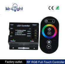 Dc12-24v 6A * 3 432 Вт рф удаленного беспроводного сенсорная панель RGB из светодиодов контроллер управления для 5050 3528 RGB RGB контроллер