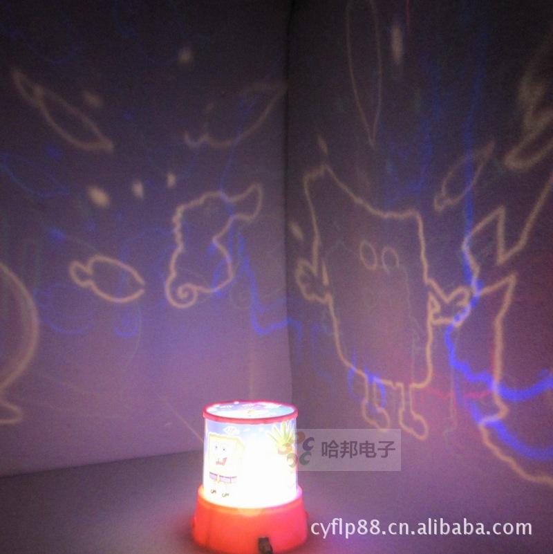 SpongeBob lamp music with rotating rotary Star Light Star Projector Lamp Daren(China (Mainland))