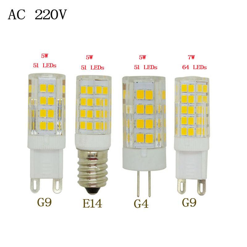 1pcs  2015 Cree Hot Sale LED lamp G9 corn Bulb AC 220V 5W 7W SMD 2835 LED light 360 degrees Beam Angle spotlight G 9 lamps bulb<br><br>Aliexpress