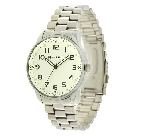 ! Authentic Julius Men's Fashion Luminous Watches Round Dial Steel Band Watch JA-264M - Right Timing Store store