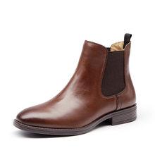 BeauToday Chelsea Stiefel Frauen Marke Genuine Kalbsleder Leder Plus Größe Herbst Winter Ankle Boot Mode Schuhe Handgemachte 03025(China)