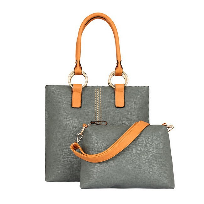 IKAI 2015 Hot Sale Simple Women's Handbags Include Two Bags Casual