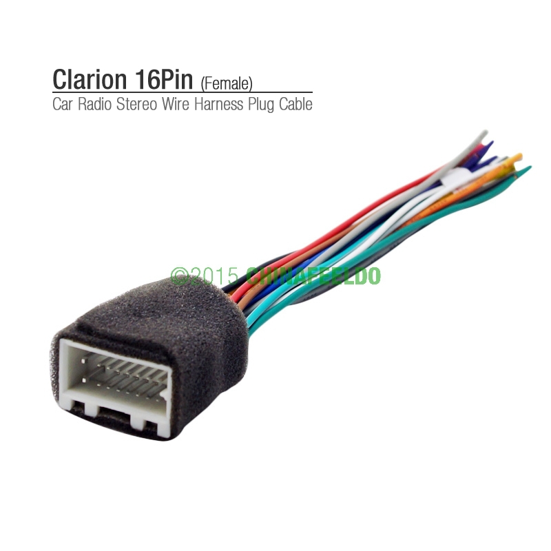 car 16pin wire harness cable connector for clarion car radio stereo aftermarket for