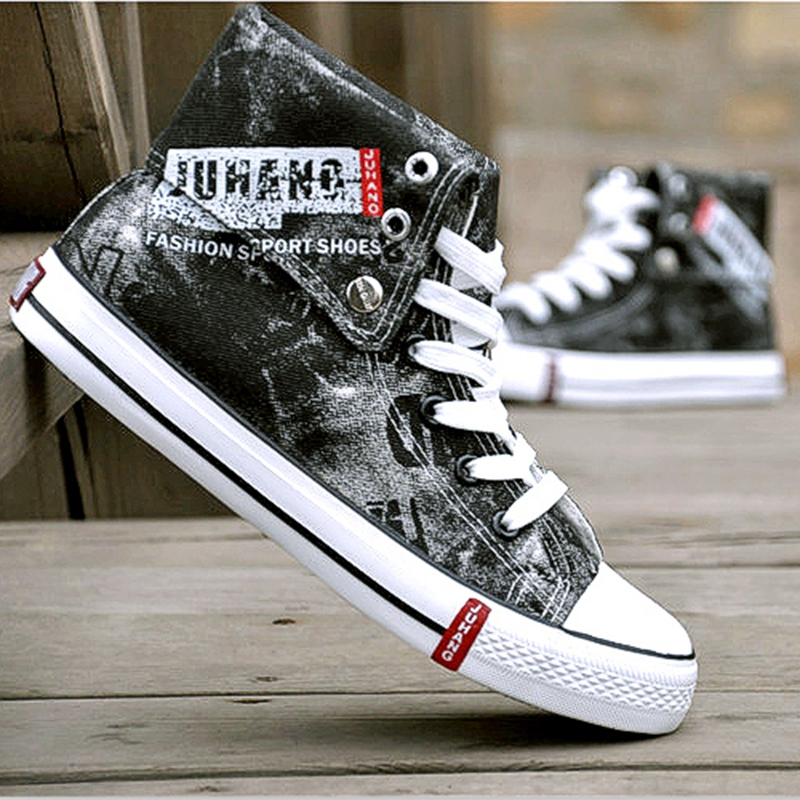 Cheap Fashion Shoes For Men NEW male high top canvas shoes