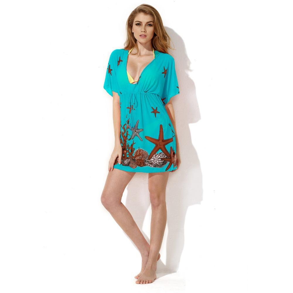 Sexy beach wear dress women 's sarong summer bikini cover ...