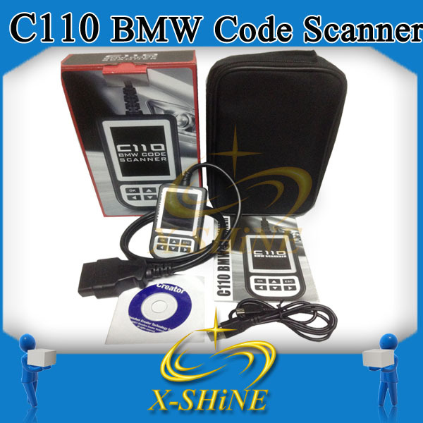 Newest creader C110 scanner car code reader v3.0 color display, support 1- 8 series, x and z series, Mini etc. from1997 to 2012(China (Mainland))