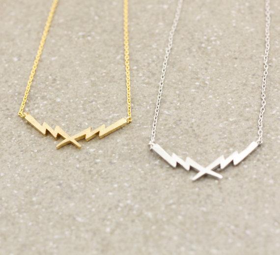 2015 Newest Listing Jewelry Necklace,Thunder Lightning Bolt Pendant Necklace,Batman Necklace--30pcs/lot(China (Mainland))