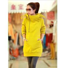 New 2015 Women's Long Sleeve Hoodie Coat Women's hoodie Sports Wear Track Hoodie Sweatshirt(China (Mainland))