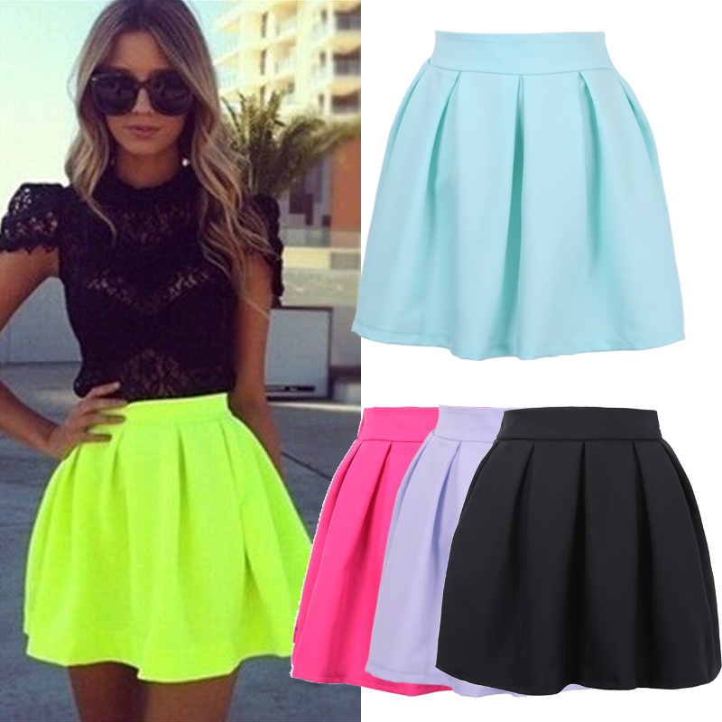 product skirt dress bright neon colors
