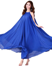 Buy Chiffon bohemian beach party women plus size dress 2017 new fashion summer vestidos sleeveless solid clothing for $17.37 in AliExpress store
