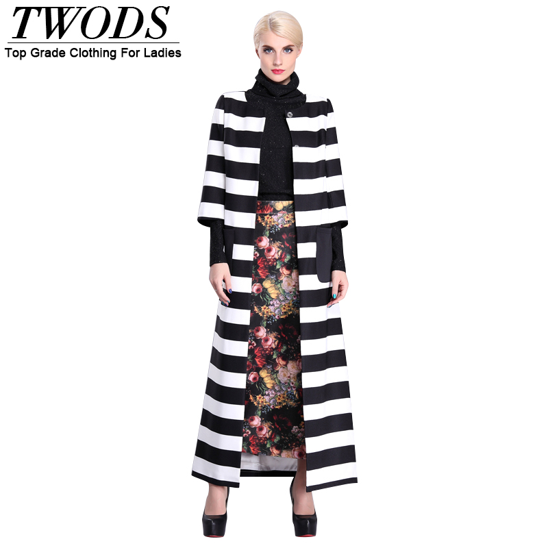 Twods 2015 new spring autumn fashion maxi trench coat for women striped plus size x long three quarter female jackets women coatОдежда и ак�е��уары<br><br><br>Aliexpress