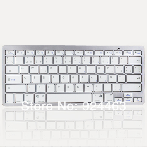 2015 Hot Selling Bluetooth Wireless Spanish Keyboard for iOS Android Windows Mac OS Linux wireless keyboard(China (Mainland))