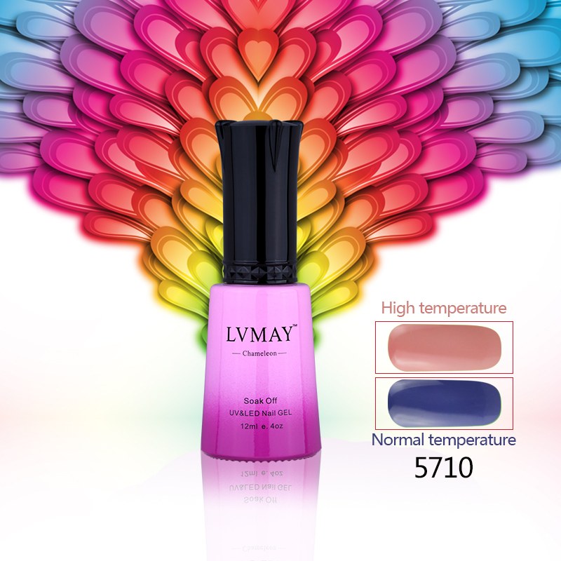 12PCS (10colors +1top+1base) LVMAY Chameleonic Color nail gel Temperature Change gel nail polish New Arrival(China (Mainland))