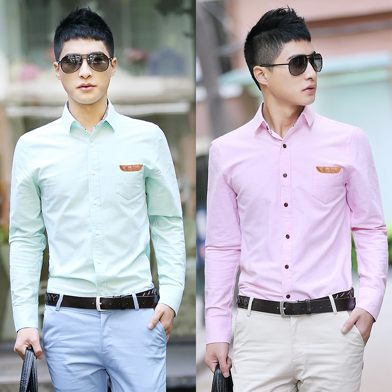 Light Pink Oxford Shirt Casual Shirt Light Pink