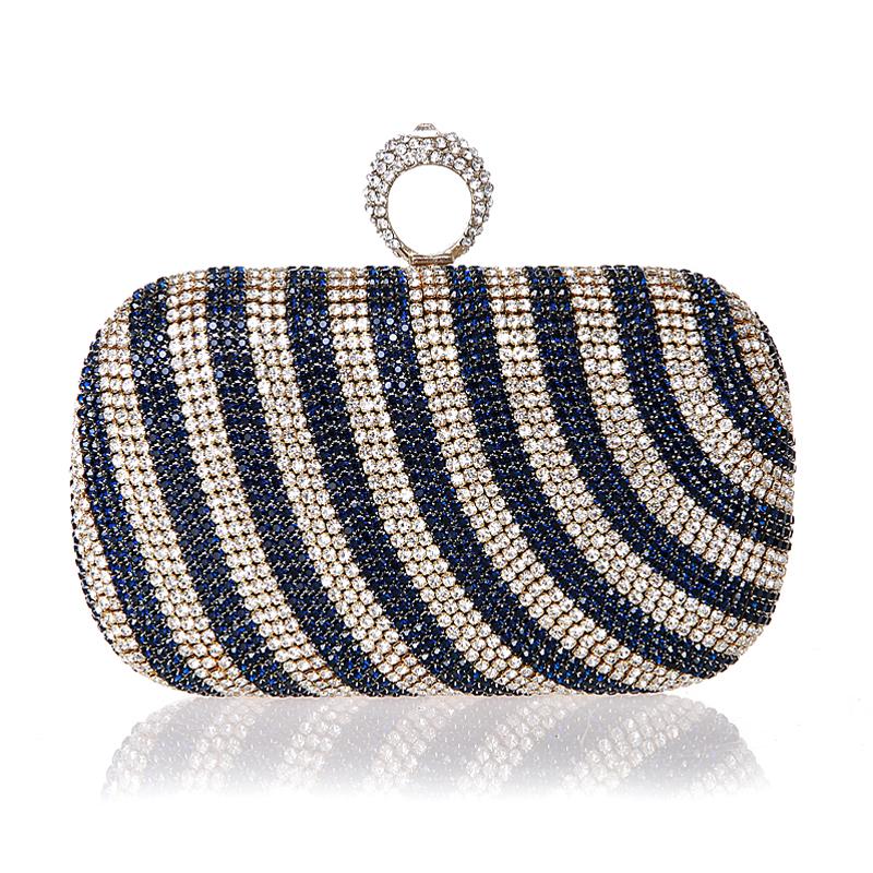 2016 New Mini Finger Ring Handbag Diamond Rhinestone Clutch Bag Evening Banquet Crystal Purse Beautiful Bride Party Purse<br><br>Aliexpress