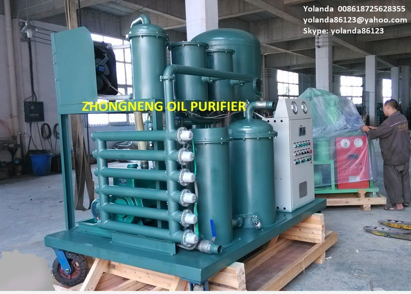 Vacuum Lubricating Oil Purifier Plant Waste Oil Filtration