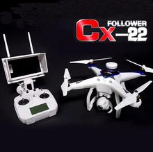 Cheerson CX-22 CX22 2.4GHZ 6 Axis 5.8G FPV RC Helicopter Drone Dual GPS Equip With 1080P Full HD Camera Professional Quadcopter