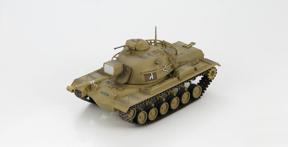 HM 1:72 HG5503 M48A2 Patton tank model 7th Armored Brigade 2nd Battalion 1967 Static Simulation Model