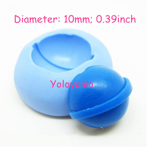 Free shipping K033YL Silicone Mold Candy Crush saga - Blue Candy 10mm - Cake Decoration Candy Resin Molds, Charms Mould(China (Mainland))