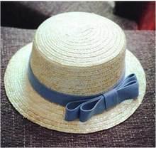 2016 الصيف شقة القبعات للنساء الفاتحة feminino سترو قبعة الشمس بنما نمط cappelli جنب مع القوس الشاطئ دلو قبعة فتاة topee(China)