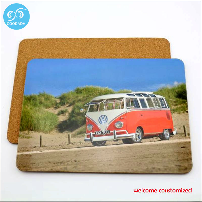 Promotion gift customized table protect heat insulation waterproof pad wood material placemats and coasters 1pc free shipping(China (Mainland))