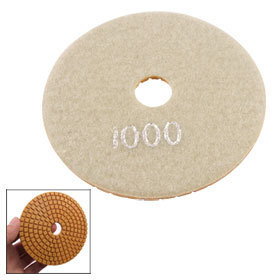 "2 Pcs 5mm Thick 1000 Grit Marble Concrete Granite Buffing Diamond Polishing Pad 4""(China (Mainland))"