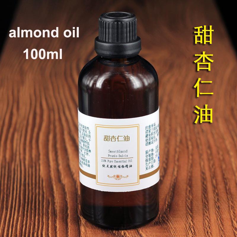 100% Pure Sweet Almond Oil Cold Pressed Pure Organic 100ml/pc Skin Care