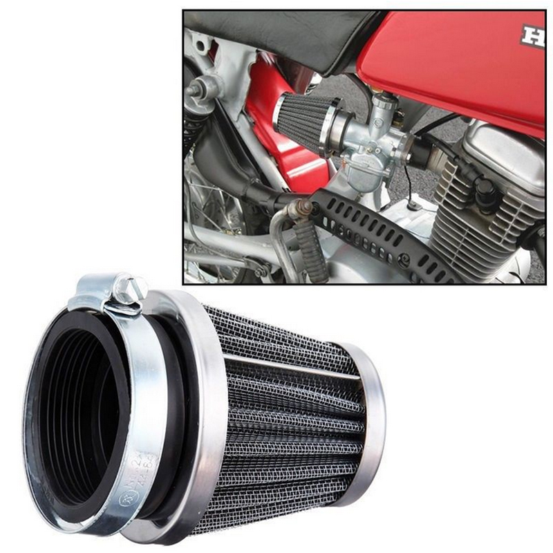 Universal 35mm 39mm 42mm 46mm 48mm 52mm 54mm Motorcycle Mushroom Head Air Filter Clamp-on Air Filter Cleaner For Honda Yamaha(China (Mainland))