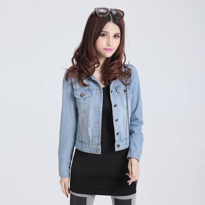 Online Get Cheap Ladies Fitted Denim Jacket -Aliexpress.com