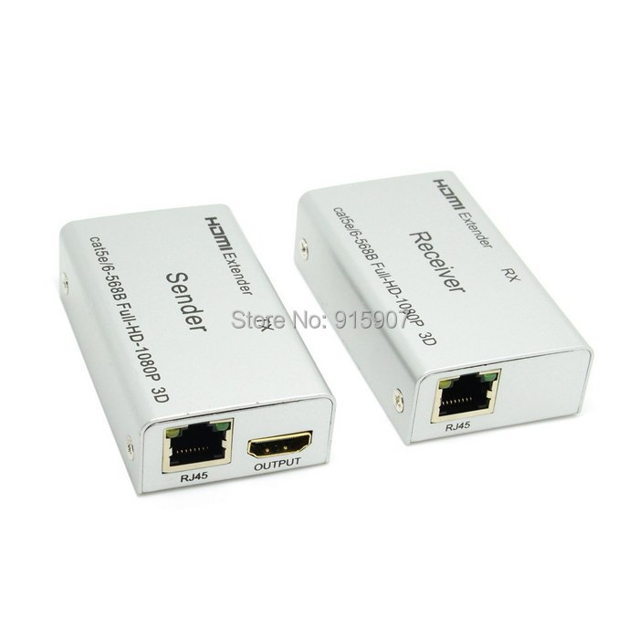 CY HDMI 1.4 With 3D Extender Over 60m Ethernet LAN RJ45 CAT5E CAT6 For HD 1080P DVD PS3(China (Mainland))