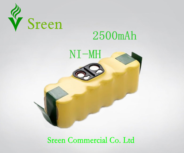 New 14.4V Ni-MH 2500mAh Vacuum Cleaning Spare Rechargeable Battery for iRobot Roomba 500 610 Series 530 510 532 550 540 80501 R3(China (Mainland))