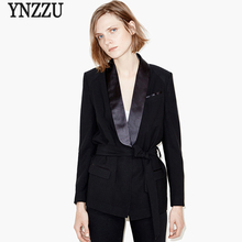 2017 New spring elegant blazer femme Autumn cool slim black ladies blazer Women coat jacket casual OL outwear(China (Mainland))