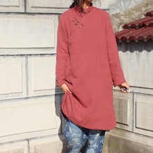 Chinese style retro long slim coat winter cheongsam chi-pao chinese dress cotton-padded clothes 4 colors