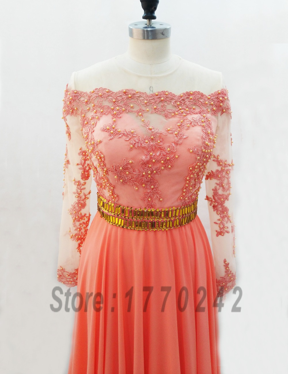Coral colored bridesmaid dresses with sleeves bridesmaid for Coral colored wedding dresses