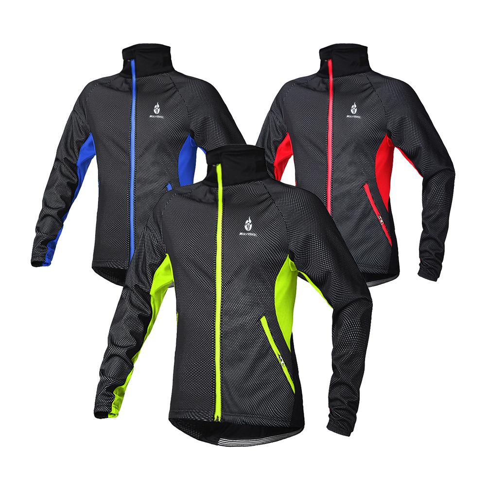 Long Sleeve Winter Thermal Cycling Jacket Bicycle Clothing Windproof Jersey MTB Mountain Bike Jacket Outdoor Sportswear B216(China (Mainland))