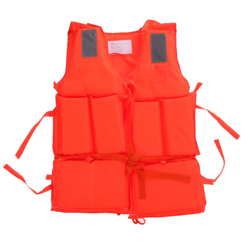 Adult Polyester Safety Life Jacket Universal Swimming Underwater Drifting Boating Ski Surfing Vest With Whistle(China (Mainland))