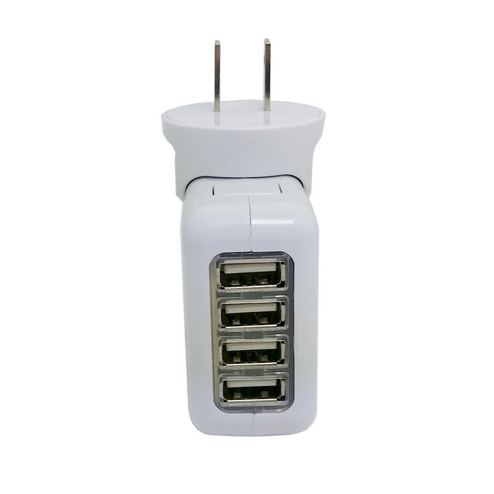 CY White 5V 2.1A 4 Ports USB Portable Home Travel Wall Charger USA AC power adapter 16w(China (Mainland))