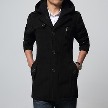 Wool & Blends Men 2015 Fashion New Design Casual Solid Single Breasted Lapel Man's Coat Size M~XXL DY26-P125(China (Mainland))