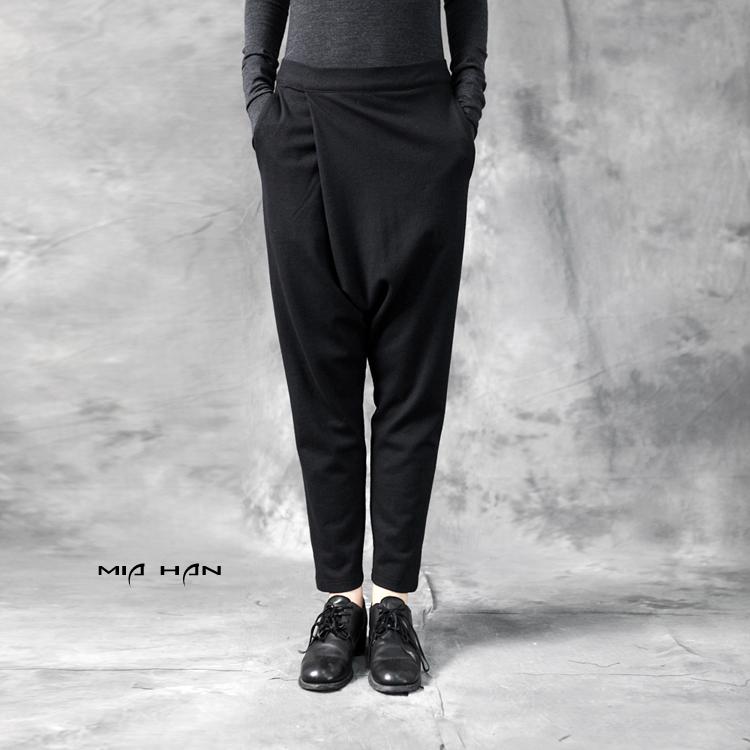 Original design 2015 autumn female elastic knitted big crotch pants harem pantsОдежда и ак�е��уары<br><br><br>Aliexpress