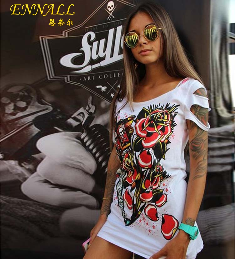 Summer new round neck short-sleeved long section hollow silver women Europe America large size T-shirt - Loving You Fashion Factory Limited store
