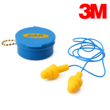 3m heatshrinked 340-4002 earplug rpuf christmas tree belt straps with box ears protection NRR25 SNR32 E5510(China (Mainland))