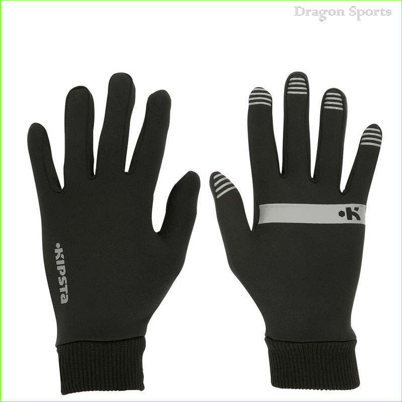 High Quality Black Unisex Running Glove Three Style Waterproof Seamless Reflective