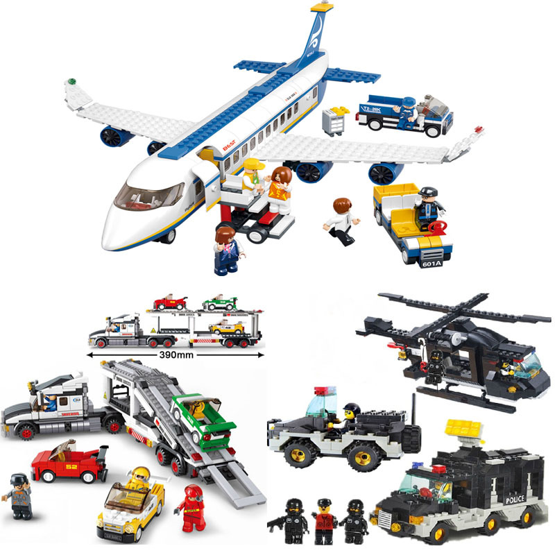 Educational DIY Toys children Sluban Building Blocks Transport truck self-locking bricks Compatible Lego - zhichao shaw's store
