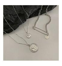HUANZHI монета портрет зажим для бумаги кулон дизайн панк шик серебро золото Цвет металла Длинная цепочка ожерелья для женщин мужчин ювелирные...(China)