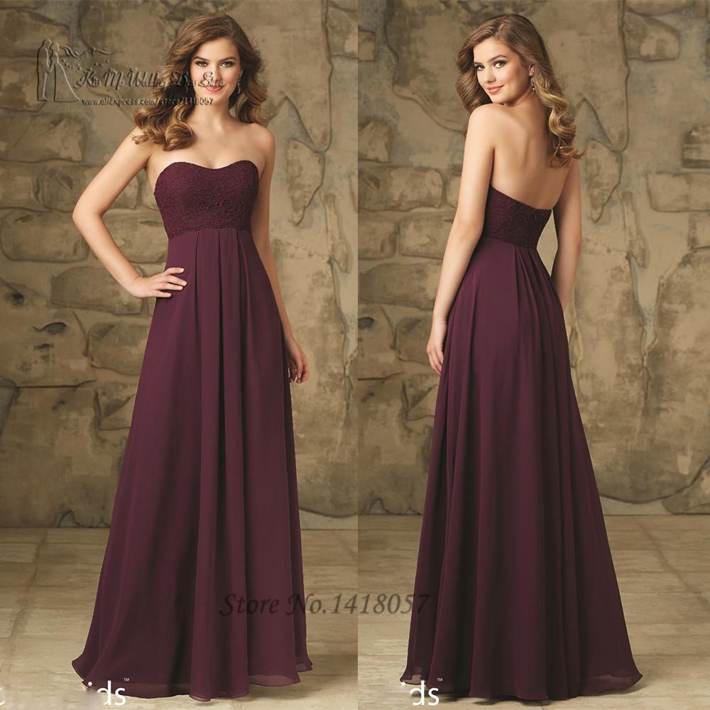 robe demoiselle d 39 honneur girls purple bridesmaid dresses for weddings lace empire sleeveless. Black Bedroom Furniture Sets. Home Design Ideas