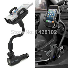 HQ Car Cigarette Lighter Socket 2 Charging USB Port Charger Mount Holder For iPhone 4 5 6 plus galaxy S3 S4 S5 S6 note 2 3 4(China (Mainland))