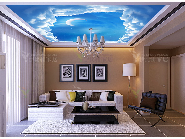 Ems free shipping customized 10 square meters 3d wallpaper for Living room 10 square meters