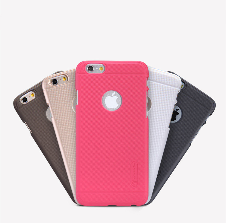 Free Shipping with Track Retail Package 2014 Nilkin Super Frosted Shield Matt Case Cover For Iphone 6 4.7 Inch with Protector(China (Mainland))