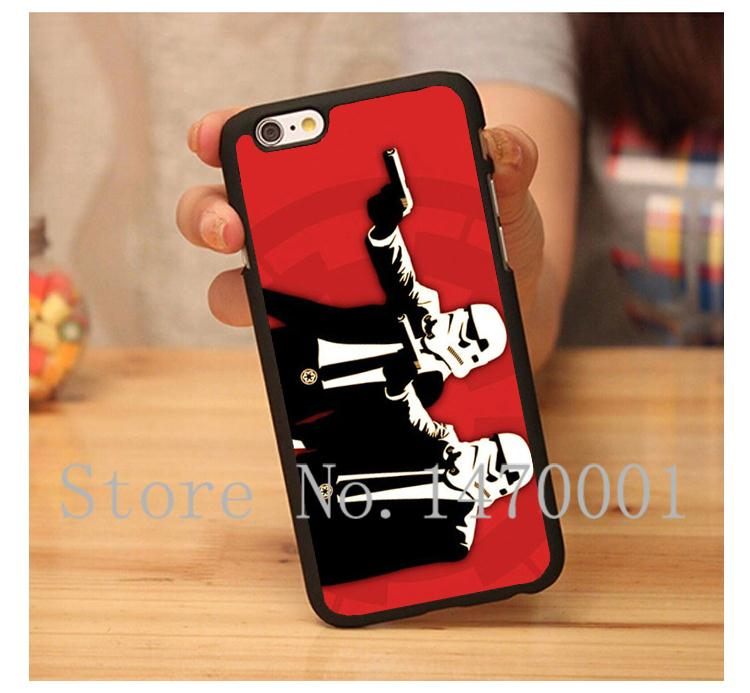 Banksy Storm Trooper hard plastic cover for iPhone 4 4s 5 5s 5c 6 6 Plus funny case with gift(China (Mainland))