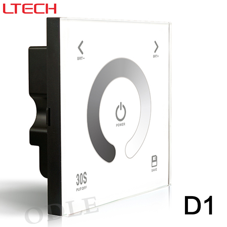 Free shipping D1 Touch Led Controller DC12-24V 4A*3CH output Glass Wall Mount Touch Panel LED Dimmer Lighting Controller(China (Mainland))